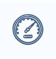 Speedometer sketch icon vector image