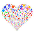 sphere fireworks heart vector image vector image