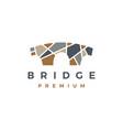 stone bridge logo icon vector image