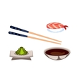 Sushi food isolated vector image vector image