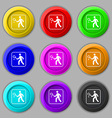 Tennis player icon sign symbol on nine round vector image vector image