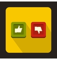 Thumbs up and down buttons icon flat style vector image vector image
