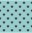 tile pattern with cats on mint green background vector image