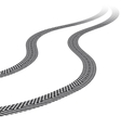 Tire tracks white background vector image vector image