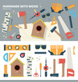 tools for handmade things vector image