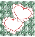 two heart background design vector image