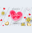 valentine day sale banner or greeting card red vector image vector image