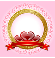 valentines day plaque vector image vector image