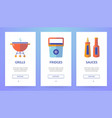 vertical slider banner about picnic vector image