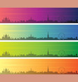 vienna multiple color gradient skyline banner vector image