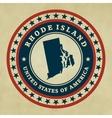 Vintage label Rhode Island vector image vector image