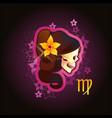 virgo zodiac sign horoscope vector image vector image