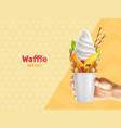 waffle can hongkong composition vector image