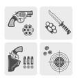 weapons shooting range gun shop black elements vector image vector image