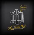 Western saloon door Sketch design vector image vector image