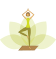 Woman in tree pose vector image vector image