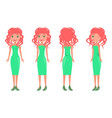 women in green dresses summer mode set vector image vector image