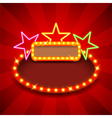 Retro poster with neon stars and lights vector image