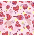 Seamless pattern of drawing doodle hearts vector image