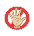 stop sign with hand vector image