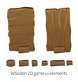 2d wooden ui elements vector image