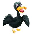 A black duck vector image vector image