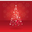 Abstract christmas tree vector image vector image