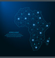 africa map low poly vector image vector image