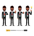 african business man showing stop gesture vector image vector image