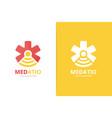 ambulance and wifi logo combination medic vector image vector image