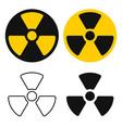 atomic radioactive sig icon radiation vector image vector image