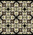 baroque gold 3d seamless pattern ornamental vector image vector image