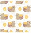 bear hugging honey jar seamless pattern background vector image vector image