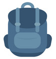blue backpack on white background vector image vector image