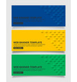 blue yellow and green square geometric texture vector image vector image