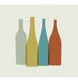 Bottle background Retro poster vector image
