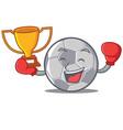 boxing winner football character cartoon style vector image