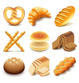 Bread and bakery icons set vector image vector image