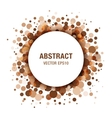 Brown - Coffee Abstract Circle Frame vector image vector image