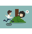 Businessman jump over trap vector image vector image