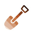 camping shovel icon vector image vector image