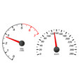 car dashboard with speedometer and tachometer vector image vector image