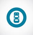 car top icon bold blue circle border vector image