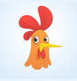 cartoon cute rooster vector image vector image