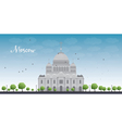 Cathedral of Christ the Savior in Moscow Russia vector image