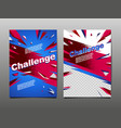 challenge layout template design abstract vector image vector image