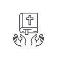 christian religion line icon concept christian vector image