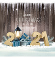christmas and new year holiday background with vector image