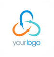 circle color orbit logo vector image
