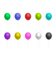 colorful realistic shiny balloons of helium vector image vector image